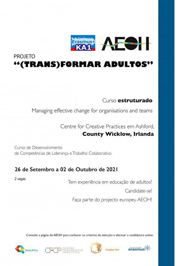 Projeto Erasmus + (Trans)Formar Adultos - Processo de seleção de participantes