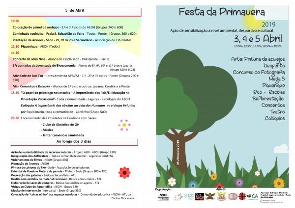 Cartaz final da festa da Primavera